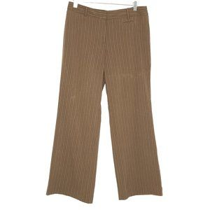 George Brown Striped Double Clasp Dress Pants
